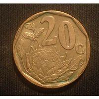 Южная Африка. ЮАР. 20 центов 2006 год