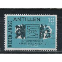 NL Колонии Нидерландские Антилы 1969 50 летие Международной Организации Труда #208