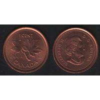 Канада _km490 1 цент 2004 год km490 не магнит (f31)**