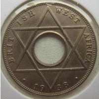 Британская Западная Африка 1/10 пенни 1938 г. В холдере (g)