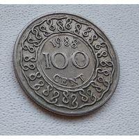 Суринам 100 центов, 1988 6-12-1