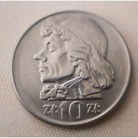10 злотых 1966 г. AU-UNC. Тадеуш Костюшко. Редкая в таком состоянии!!!