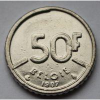Бельгия 50 франков, 1987 г. 'BELGIE'
