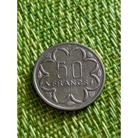 Африканская республика 50 франков 1976 г