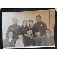 """Фото """"Большая орденоносная семья"""", конец 1940-х гг."""