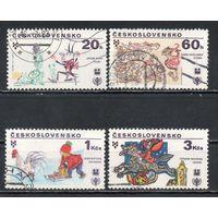 VII биеннале иллюстраций детских и юношеских книг в Братиславе Чехословакия 1979 год 4 марки