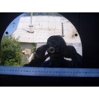 Зеркало заднего вида советского реактивного истребителя из металла.
