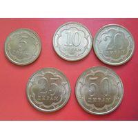 Таджикистан. Набор 5 монет 2006 года. 5-50 дирам.