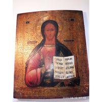 Икона Иисус Христос Вседержитель 19 век. Золото.Обмен.