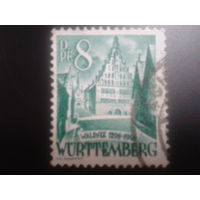 Германия 1948 Вюртемберг фр. зона ратуша