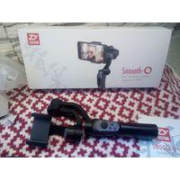 Трехосевой стабилизатор для смартфона и экш-камеры с переходником для камеры