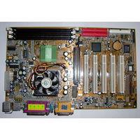Материнская плата Acorp 6A815EP1 сокет 370,  с процессором, оперативной памятью, видеокартой, жестким диском.