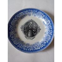 Тарелка декоративная Святая Сисилия винтаж