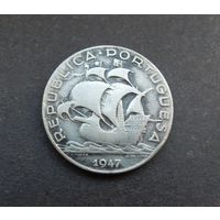 5 эскудо 1947 Португалия Корабль (серебро)