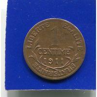 Франция 1 сантим 1911