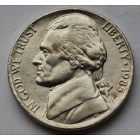 США, 5 центов 1985 г. Р