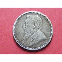 6 пенсов 1896 года Трансвааль