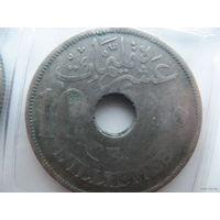 Египет 10 миллим 1917г.