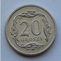 Польша 20 грошей. 2001
