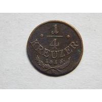 Австро-Венгрия 1/4 крейцера 1816г
