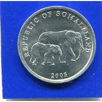 Сомалиленд 5 шиллингов 2005 UNC