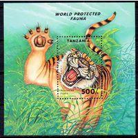 Фауна Тигр Танзания 1994 год 1 чистый блок