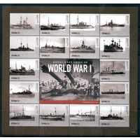 Корабли 2 Мировой войны Гайана 2015 год серия из 2-х малых листов (М)