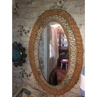 Зеркало с плетёным основанием торг
