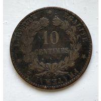 Франция 10 сантимов, 1872 K - Бордо 2-5-4