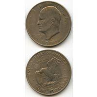 США 1 доллар 1971 г. (Буква D, USA, Америка)