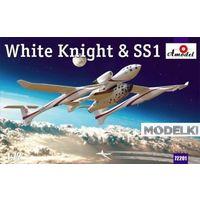 Американский самолет-носитель White Knight и суборбитальный пилотируемый космический корабль Space Ship One, сборная модель 1/72 Amodel 72201
