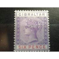 Гибралтар 1898 Королева Виктория Михель-60,0 евро с одной звездой с клеем