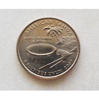 25 центов США 2009 г. штат  Восточное Самоа  D