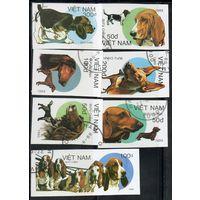 Собаки Вьетнам 1989 год б/з серия из 7 марок