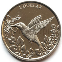 Британские Виргинские Острова 1 доллар 2017 года. Колибри