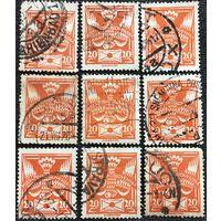 ЦІКАВІЦЬ АБМЕН! 1921, паштовы голуб, 20 гелераў