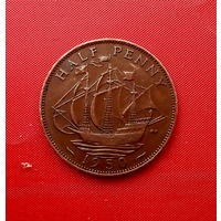 92-02 Великобритания, 1/2 пенни 1950 г.