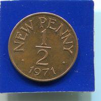 Гернси 1/2  пенни 1971