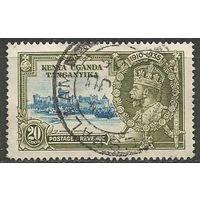 Кения Уганда и Танганьика. Король Георг V. 25 лет на троне. 1935г. Mi#45.