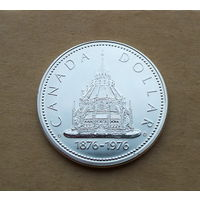 Канада, доллар 1976 г., библиотека Сената, серебро