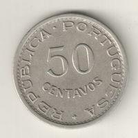 Ангола 50 сентаво 1950 300 лет Революции 1648