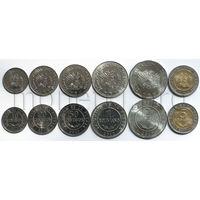 Боливия 6 монет 2012-2017 годов