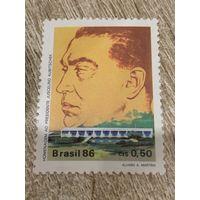 Бразилия 1986. Президент Juscelino Kubitschek. Полная серия