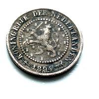 Нидерланды 1/2 цента, 1894 1-11-34