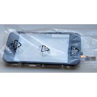 Для Apple iPhone 3G - сенсорное стекло (экран, дисплей) с алюминиевой рамкой в сборе