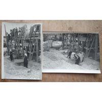 Фото из СССР. На стройках социализма. 2 шт. Цена за обе. 13х18 см.