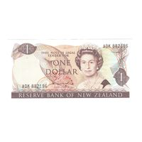 Новая Зеландия 1 доллар образца 1981 года. Подпись H.R. Hardie, слово CHIEF CASSIER. Тип Р 169a. Состояние UNC! Редкая!