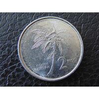 Филиппины 2 песо 1991 год.