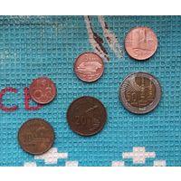 Азербайджан набор монет 1, 3, 5, 10, 20, 50 гипяк, AU