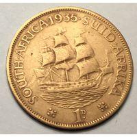 Южная Африка, 1 пенни 1935, редкая